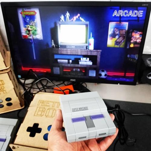 Retrobox, 20 Mil Jogos Na Memoria, Caixa De Mdf