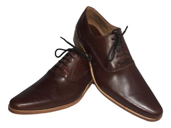 Zapato Vestir Cuero Marron Numero 48