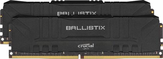 Memoria Crucial Ballistix 3000mhz Ddr4 16gb 8gbx2 Cl15 Black