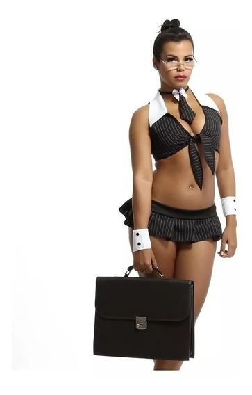 Fantasia Executiva Plus Moda Intima Feminina Adulta Sensual