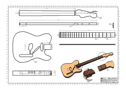 Guitarra Telecaster Mod. Fender - Projeto