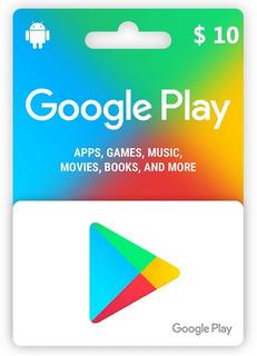Tarjeta Google Play Store $10 Freefire, Pubg Y Mucho Más