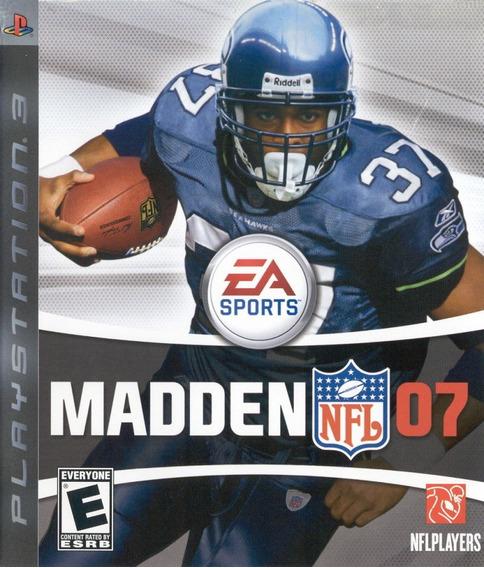 Jogo Madden Nfl 07 Playstation 3 Ps3 Original Mídia Física