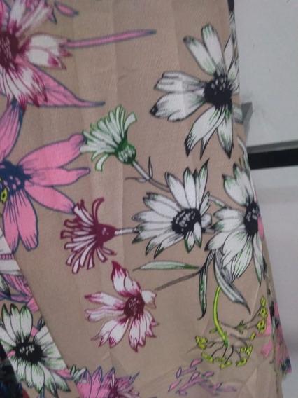Macacão Macaquinho Pantalona Floral Trançado Verão 2018 Top