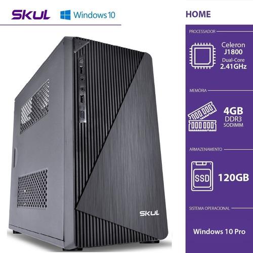 Imagem 1 de 6 de Computador Home H100 Celeron Dual Core J1800 4gb Ddr3 120gb