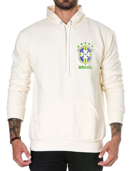 Blusa De Moletom P/ Frio Brasil Especial Seleção Brasileira