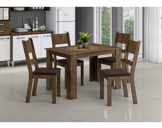 Conjunto De Mesa Aramóveis Simone 4 Cadeiras - Dakota
