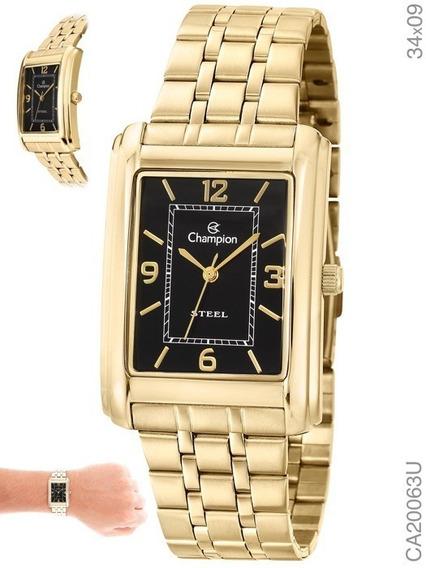 Relógio Champion Analógico Feminino Dourado Ca20063u