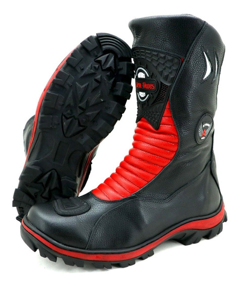 Bota Motociclista Atron Shoes Feminina 302 Cores Top **--**