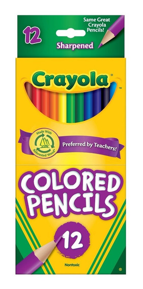 Lápis De Cor 12 Cores Crayola Ganhe Brinde