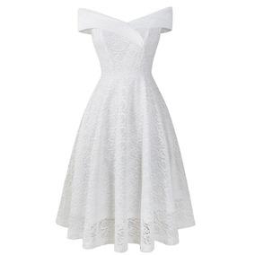 a05873cb8 Vestido Rojo Corto Encaje - Vestidos Cortos de Mujer Blanco en ...