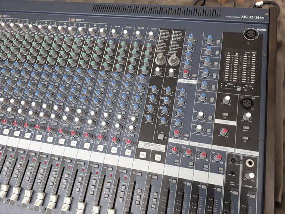 Mesa De Som Yamaha Mg32/14fx 32 Canais (case Grátis)