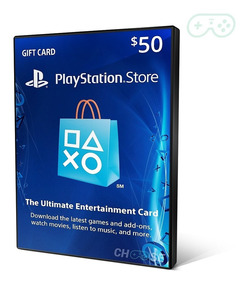 Playstation Network Card Cartão Psn $50 Dolares Us Americano