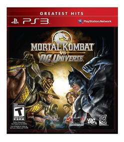 Mortal Kombat Vs Dc Universe Ps3 Pronta Entrega Midia Fisica