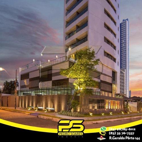 Apartamento Com 3 Dormitórios À Venda, 100 M² Por R$ 582.615 - Manaíra - João Pessoa/pb - Ap2511