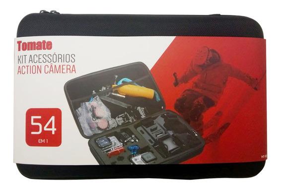 Kit Acessórios Action Camera 54 Em 1 Maleta Tomate Mt-1101