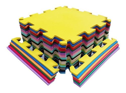 Kit 6 Tapetes Eva De Encaixe Decorativo 50x50x1cm 10mm