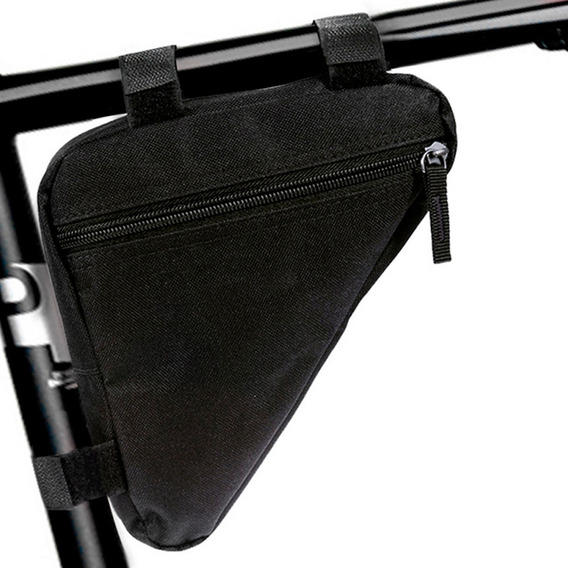Mochila Triangular Impermeable Para Bicicleta Negra D1151