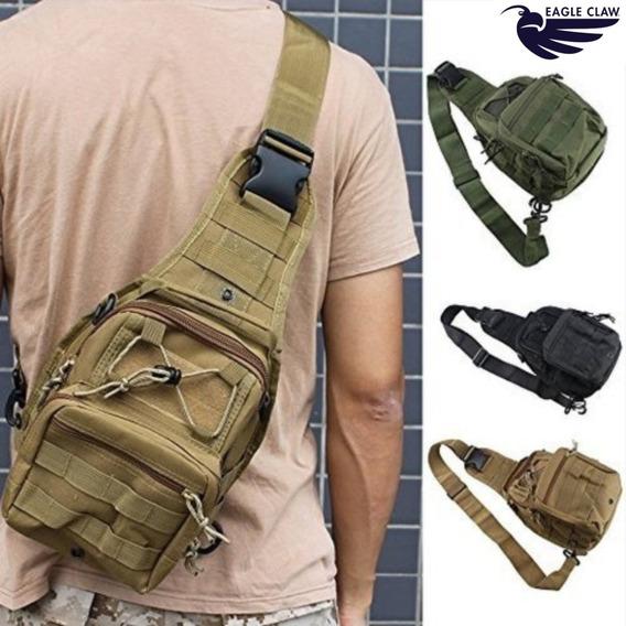 Morral Tactical Go Bag Eagle Claw Bandolera Riñonera