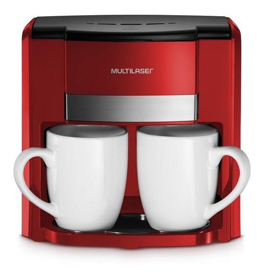 Cafeteira Elétrica 220v 450w 2 Xícaras Vermelho Multilaser
