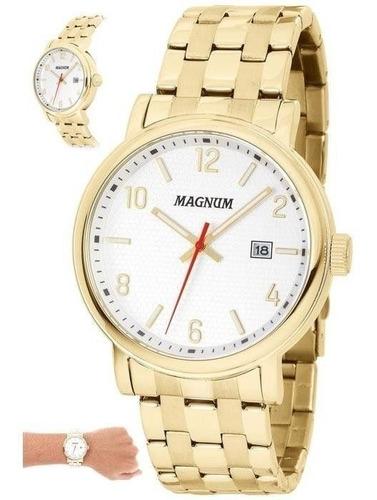 Relógio Magnum Masculino - Ma34610h Casual Dourado