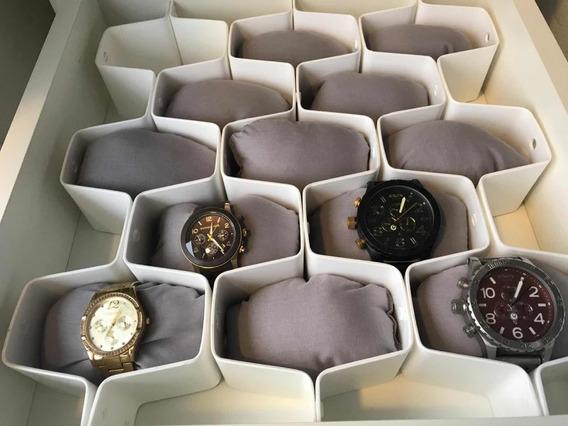 Organizador De Gavetas Para Relógios C/ 13 Almofadas!