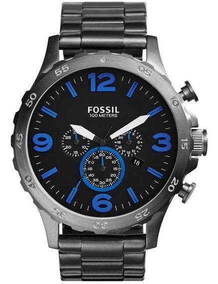 Relógio Fossil Masculino Nate Cronógrafo Jr1478/1pn