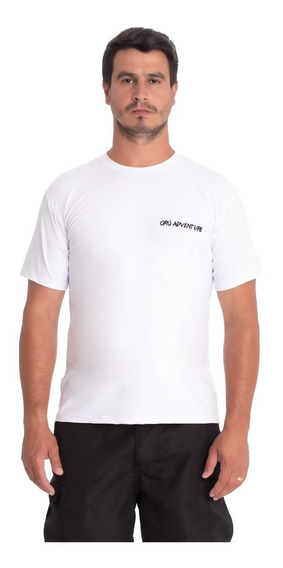Camiseta Proteção Solar Uv50 Masculina Manga Curta G Branca