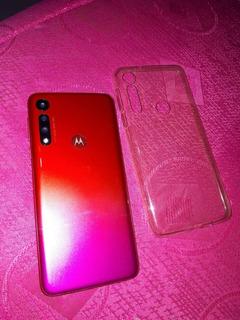 Celular Motog8 Play Rosado Con Rojo