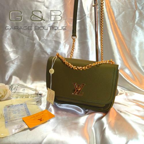 Imagen 1 de 2 de Crossbody Lv Top Quality Color Verde Y Correa Metálica