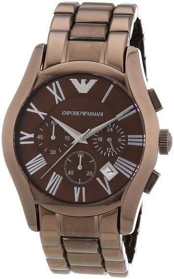 Relógio Emporio Armani Ar1610 Brown Marrom A Pronta Entrega