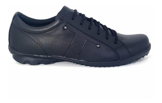 Zapatillas Cuero Marrón Y Negro Hombre Urbanas Base De Goma