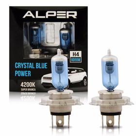 Lampada H4 Super Branca 12v Crystal Blue Power Alper