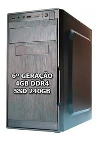 Cpu Core I3 6100 - 4gb 2400mhz Ddr4 - Hd Ssd 240gb Promoção
