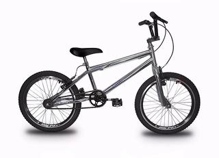 Bicicleta Aro 20 Prata Freios V-brake Modelo Bike