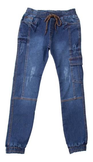 Calca Jeans Menino Masculina Infantil Juvenil Com Lycra