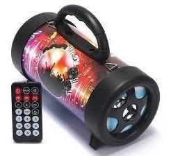 Caixa De Som Bluetooth Canhão Portátil 10w Mp3 Fm Usb Sd Aux