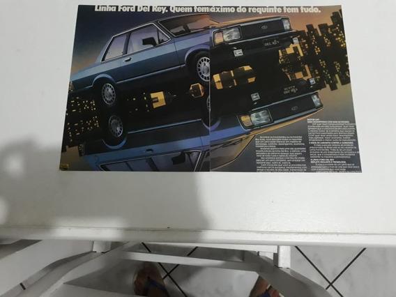 Propaganda Antiga Ford Del Rey Coleção Raro Anúcio Publicida