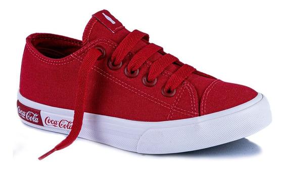 Tênis Coca Cola Vermelho Basket Blend Canvas - Original