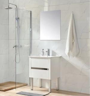 Mueble Para Baño Mi60 Blanco Inc Placa Ceramica, Esp Y Mon