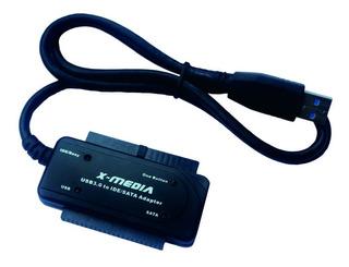 Cable Adaptador X-media De Usb 3.0 A Ide/sata , Boton Otb,