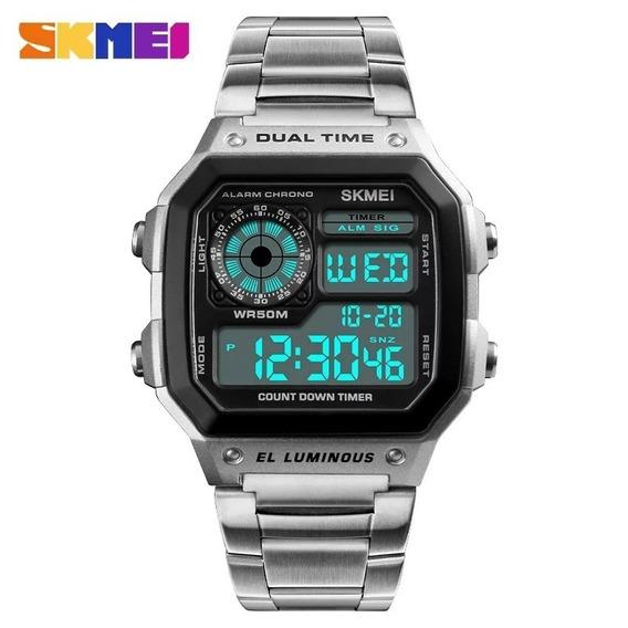 Relógio Masculino Igual Do Bolsonaro Skmei Original Promoção