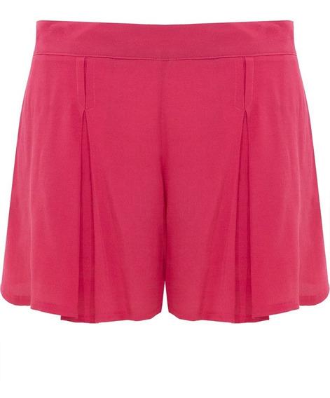 Shorts Bermuda Feminino Cintura Alta Drapeado Social Verão