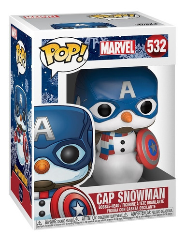 Funko Pop! Marvel: Holiday - Cap Snowman (43335) (532)