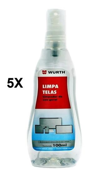 Kit 5 Limpa Telas Monitor - Celular Tv Notebook Tablet Wurth