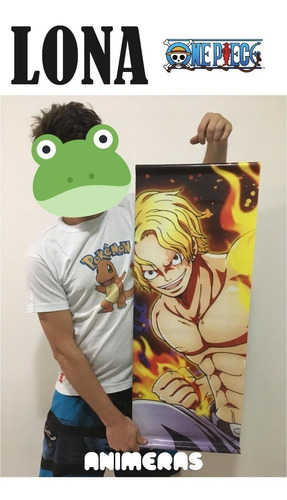 Lona De One Piece Sabo Fire Para Colgar - Animeras