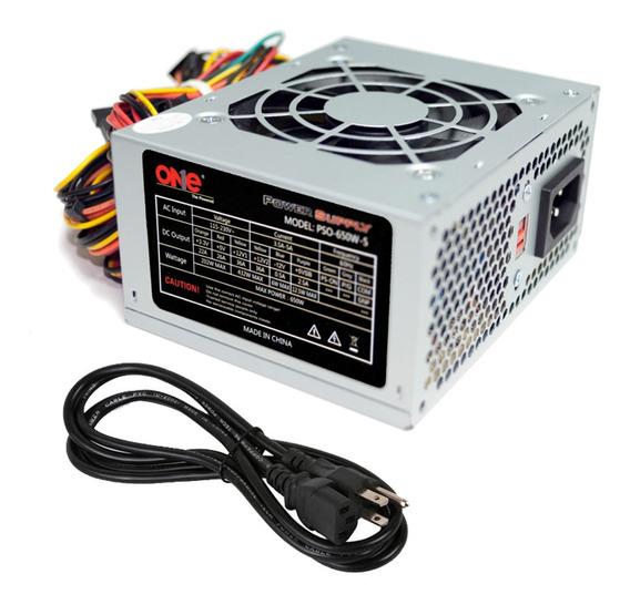 Fuente De Poder One 650w Micro Atx Slim (pso-650w-s)