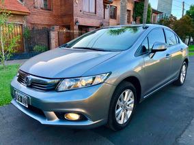 Honda Civic 1.8 Lxs At 140cv - Año 2014 Service Oficiales