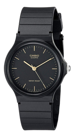 Reloj Casio Negro De Resina Hombre Mq24-1e Resistente Agua