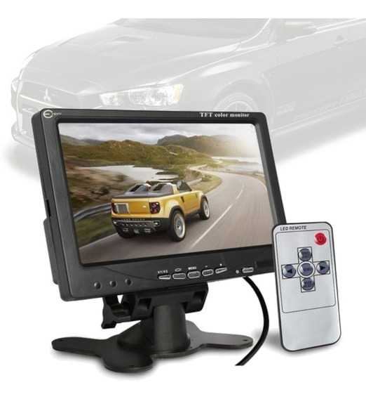 Monitor 7 Lcd Com Base P/ 2 Camera Rca Mmc Expo